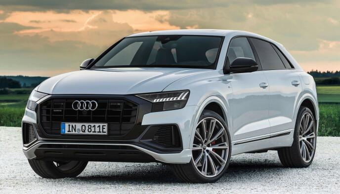 TETT I TOPPEN: Q8 er ikke helt ulik Norges mest solgte bil, Audi e-tron, og blir selvfølgelig mye dyrere, men har fortrinn som 3,5 tonn på tilhengerfestet og en helt annen rekkevidde. Foto: Audi