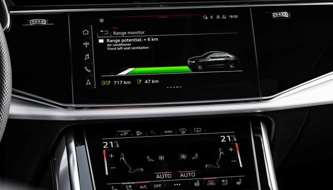 AVANSERT: Audi har blant de mest sofistikerte hybridsystemene allerede montert i eksisterende modellprogram og fungerer imponerende. Foto: Audi