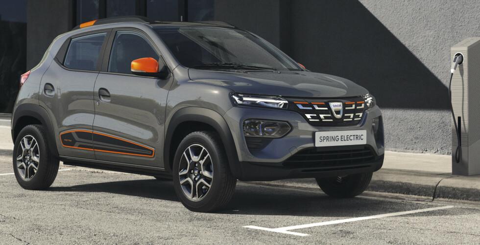 BILLIG EL-SUV: Prisen er ikke satt ennå, men mye tyder på at Dacia Spring Electric kommer til å bli skikkelig billig. Foto: Dacia