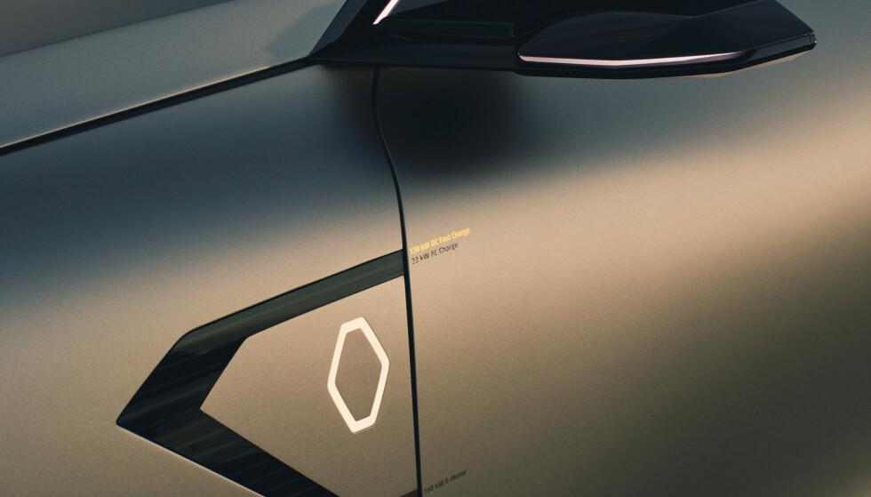FANCY: Av den litt mer fancy sorten. Trolig blir den byttet ut mot et normalt lokk og vi får sikkert se vanlige dørhndtak og speiler også. Foto: Renault.
