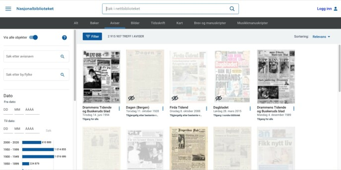 Søk etter deg selv i gamle aviser