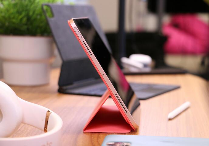 Smart Folio-dekselet er pent og praktisk.