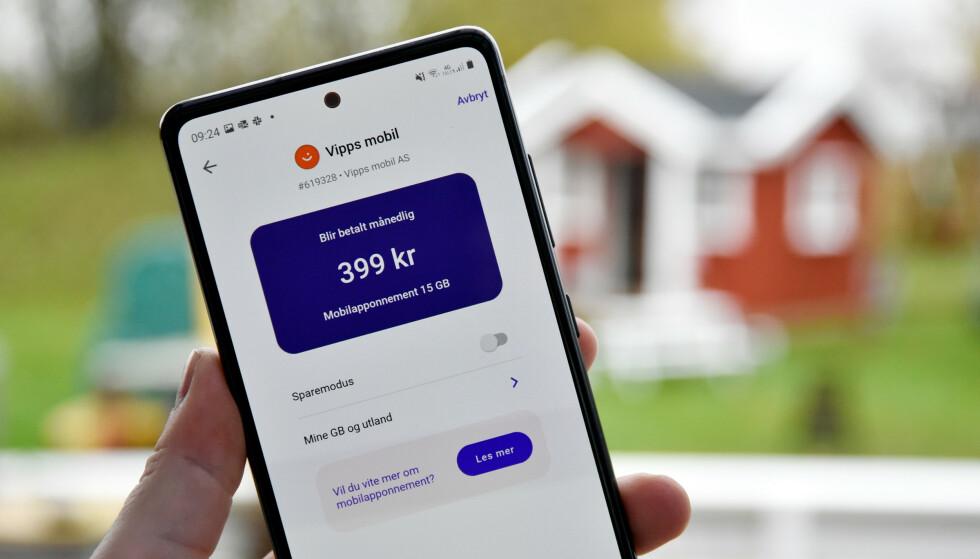 NY AKTØR: Vipps har lansert egne mobilabonnement, men hvordan står de seg prismessig mot konkurrentene? Foto: Pål Joakim Pollen