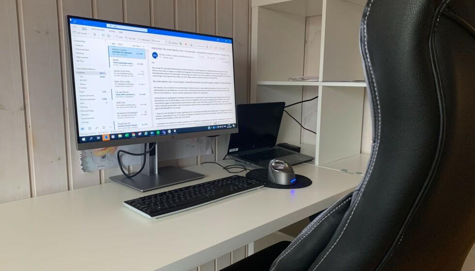 PÅ HJEMMEKONTOR? Trenger du utstyr til hjemmekontoret, er det gjort fritak for skatteplikten som følge av coronasituasjonen. Foto: Berit B. Njarga