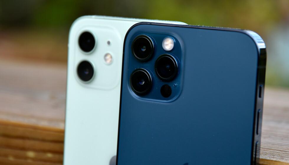 2 OG 3: Her er den største forskjellen på iPhone 12 og 12 Pro. Foto: Pål Joakim Pollen