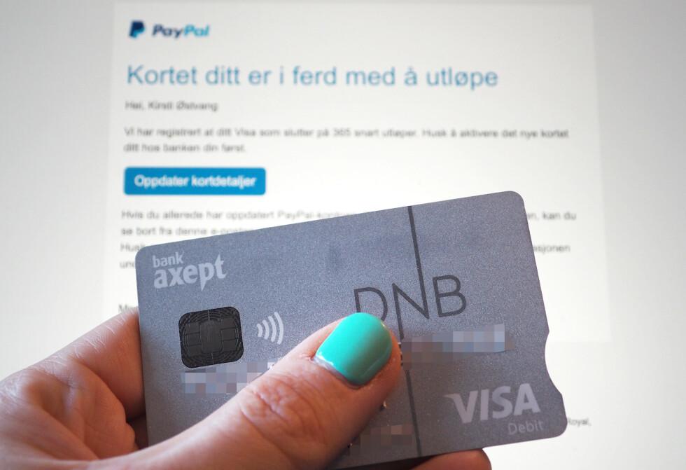 VARSLER DEG: Mange tjenester sier i fra når det er å tide å oppdatere betalingsinformasjonen. Foto: Kirsti Østvang