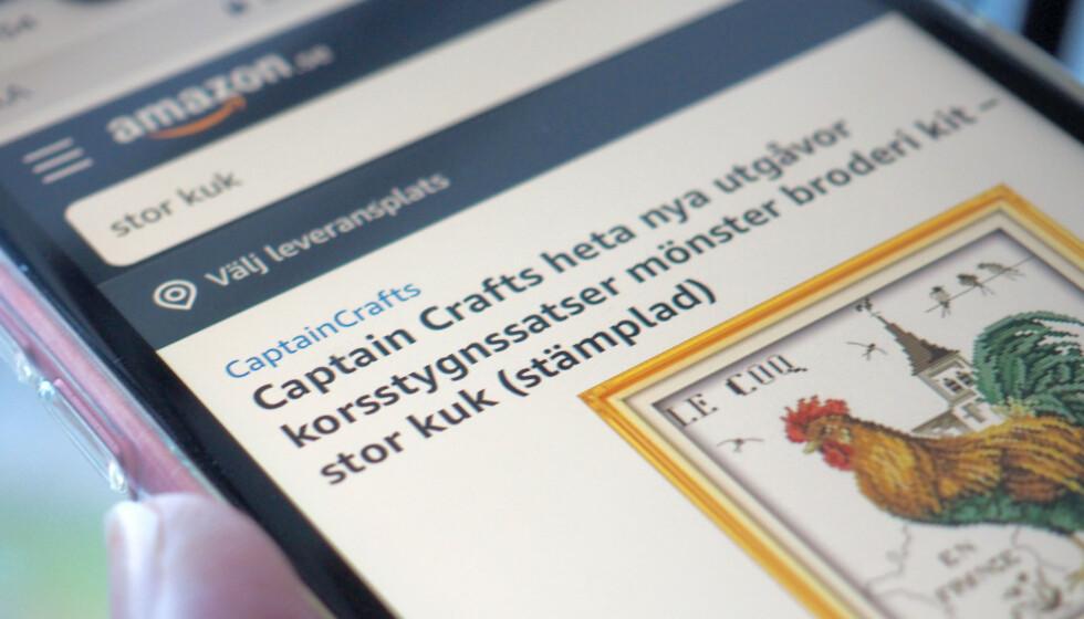 KAOS: Amazon har lansert svensk nettbutikk - men automatiske oversettelser har ført til stor oppstandelse hos våre naboer i øst. Det er ventet at Amazon vil lansere i Norge om ikke lenge. Foto: Kristin Sørdal