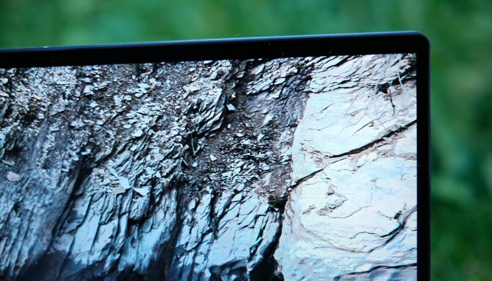 92 prosent av fremsiden er skjerm. Foto: Martin Kynningsrud Størbu