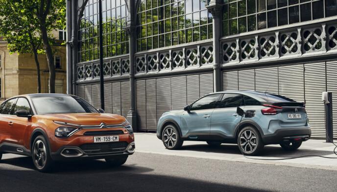 BLANT DE BILLIGSTE: Nye Citroën ë-C4, som kommer til Norge om noen uker, er inne på vår liste over de 15 billigste elbilene på markedet. Foto: Citroën