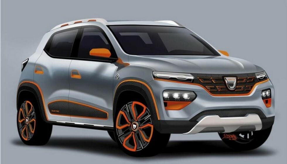 NORGES BILLIGSTE: Dacia Spring får ifølge produsenten en uslåelig pris. De første bilene kommer til Norge til våren. Foto: Dacia