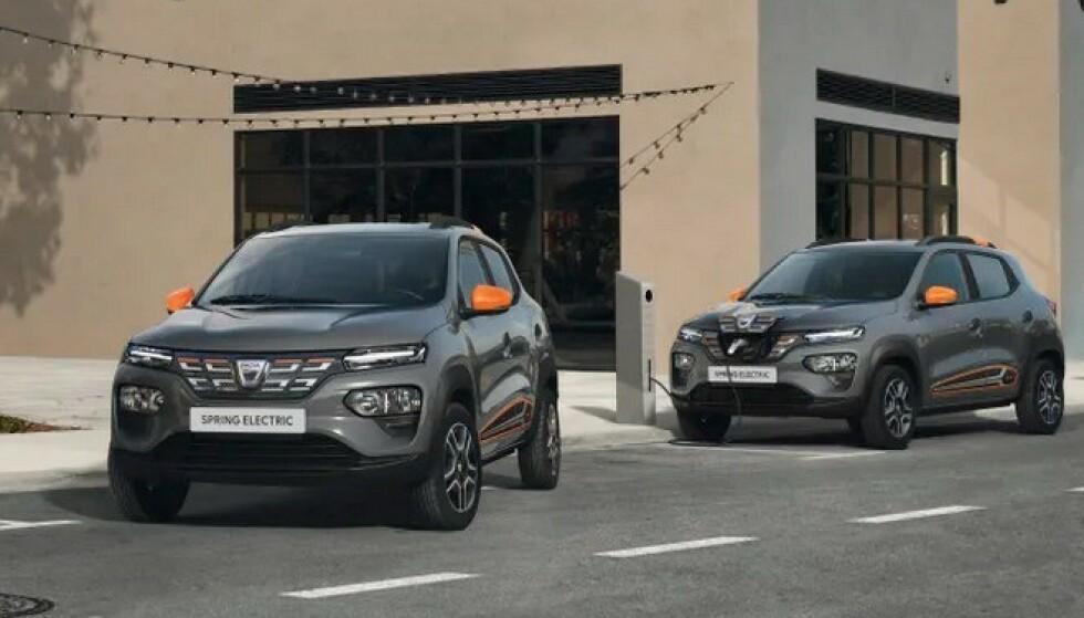 TIL VÅREN: Dacia Spring kommer til Norge til våren som utleiebil. Neste høst kommer den i vanlig salg. Foto: Dacia