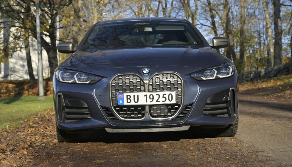 VERSTING-STEMPEL: BMW kommer dårligst ut i råkjøring- og ulovlig bruk av mobiltelefon-statistikken til Fremtind og beholder stempelet som bilmerket som har mest å gå på i trafikken. Foto: Rune M. Nesheim