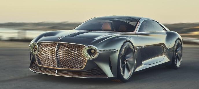 SKIFTER RETNING: Fra store V12-ere til spreke elbiler innen ti år er målet. Men grillen beholdes. Foto: Bentley Motors.