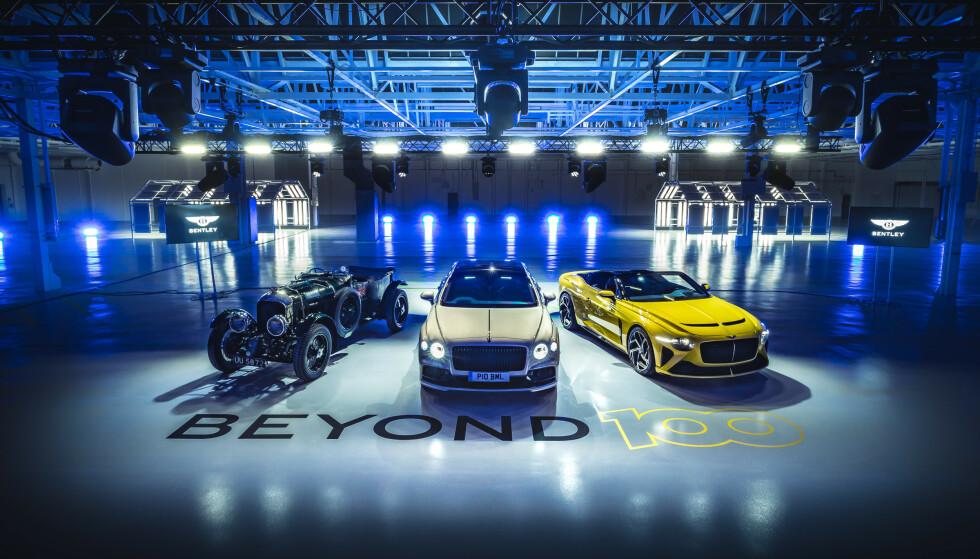 BEYOND 100 STRATEGY: Bentley har presentert sine planer for de neste 20 år. Da er Bentley 100 år. Foto Bentley Motors.