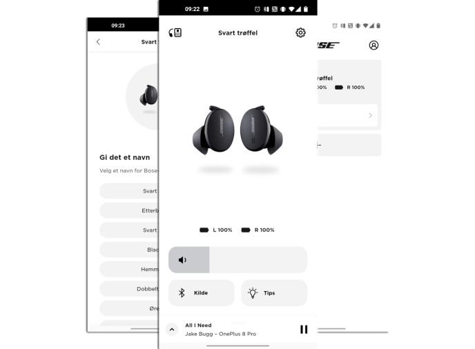 BOSE MUSIC: Appen til Bose har det mest grunnleggende av funksjoner.