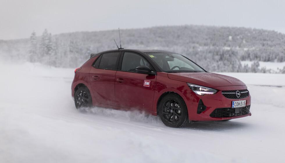 CORSA RASKEST: Opel Corsa har det varmeapparatet som gir raskest varme av bilene med forbrenningsmotor. Foto: Anton Reenpaa