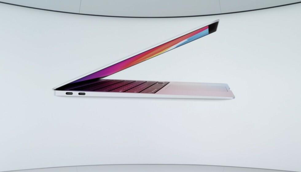 Apples nye MacBook Air ser i grunn ut som før. Foto: Apple
