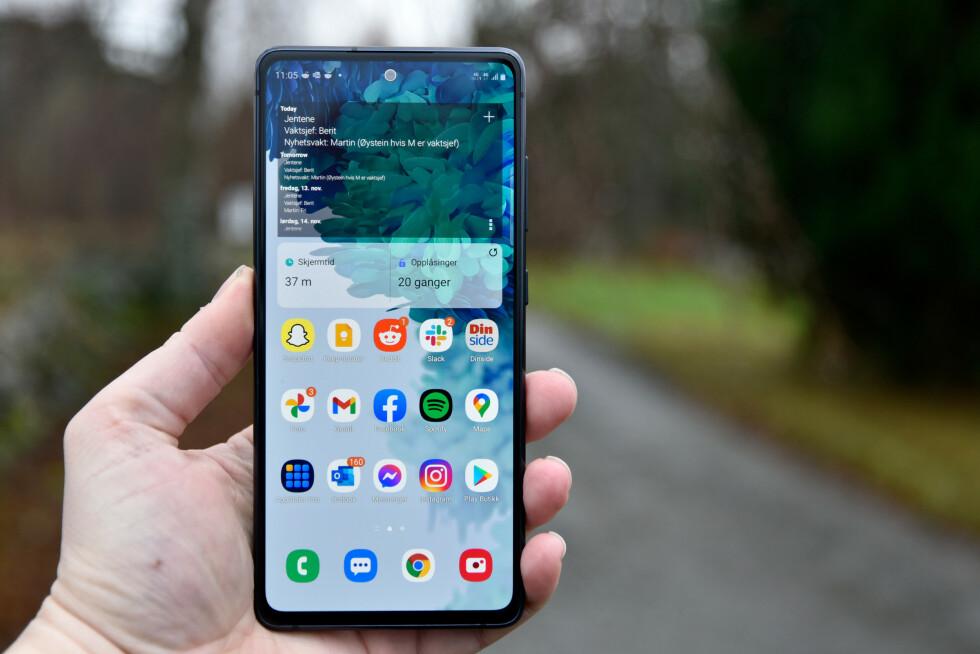 FØRST UT: Samsung starter utrullingen av Android 11 til sin S20-serie. Foto: Pål Joakim Pollen