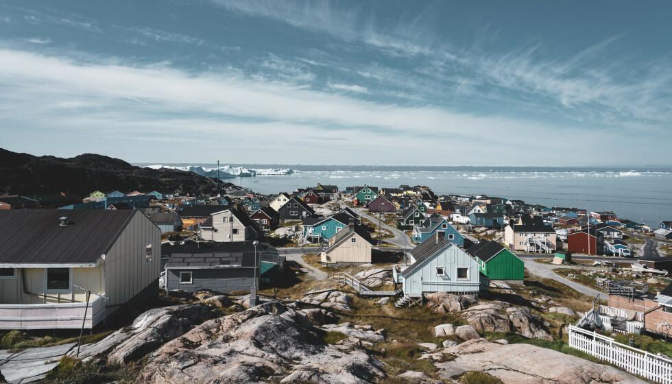 REKORDLAV SMITTE: Foreløpig har kun 18 personer vært smittet av corona på Grønland. Her fra Ilulissat. Foto: NTB/Alamy Stock Photo