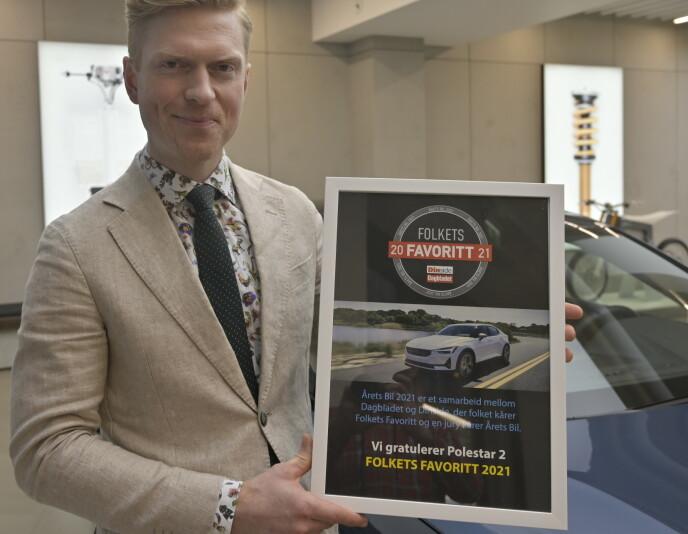 BLID: Alexander Hørthe synes prisen er spesielt hyggelig, siden det er folket som har talt. Foto: Rune M. Nesheim