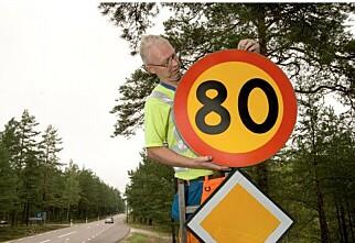 Sverige kutter farten til 80