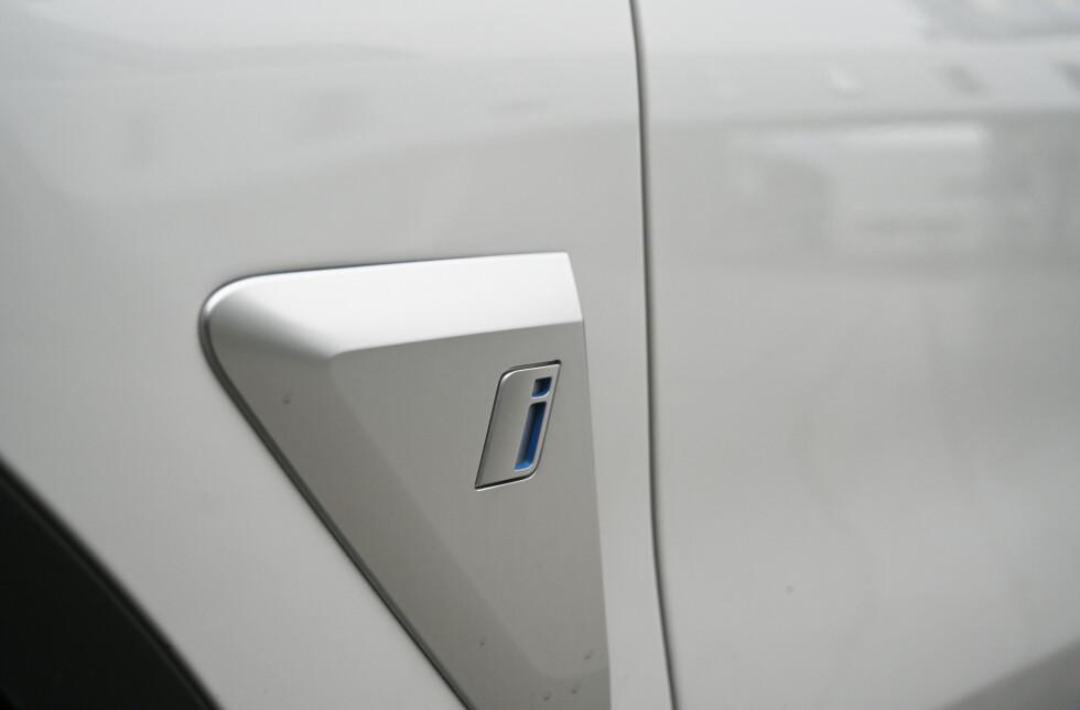 I: den lille i-en viser når X3 er elektrisk. Foto: Rune M. Nesheim