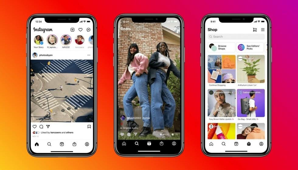 GJORT OM: Instagram har gjort noen omrokkeringer i brukergrensesnittet og flyttet på noen viktige funksjoner til fordel for nye. Foto: Instagram