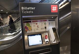 Fjerner billettautomater på T-banen i Oslo