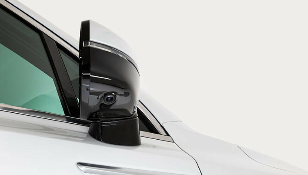 BLINDSONEKAMERA: Kameraet er plassert på undersiden av speilet. Foto: Kia