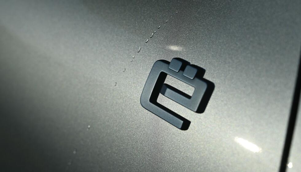 ELEKTRISK: Dette symbolet forteller at du fyller din Citroën med elektrisitet. Foto: Rune M. Nesheim