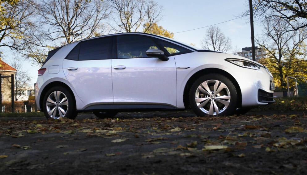 VW-ELBIL UTSATT: Mens Volkswagen sliter med leveransene av VW ID.3 (bildet) blir lillebror ID.1 utsatt i to år. Foto: Øystein B. Fossum