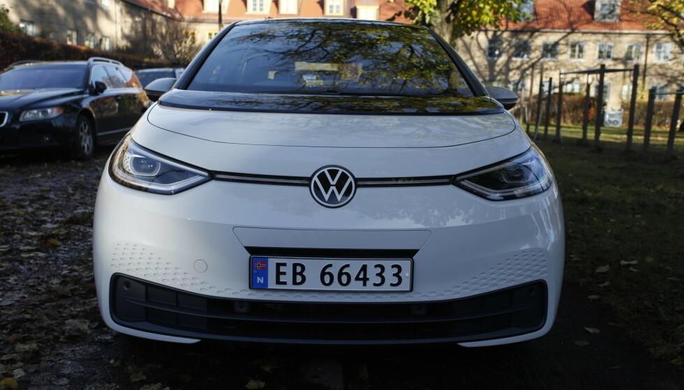 BOOM! Elbiler som VW ID.3 har bidratt til at elbilsalget i Europa gikk i været i slutten av 2020. Foto: Øystein B. Fossum