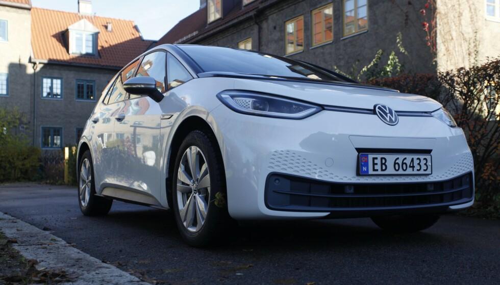 44 400 KRONER RIMERLIGERE: VW ID.3 kommer i ny versjon med mindre batteripakke. Foto: Øystein B. Fossum