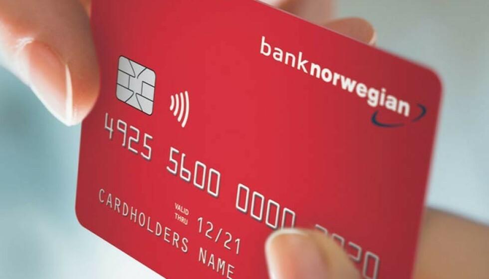«MATKUPONG»: Bank Norwegian blir den første banken i Norden som tilbyr kostnadsfri dagligvareforsikring i kredittkortet. Forsikringen dekker én måneds forbruk av dagligvarer for dem som er permittert, arbeidsledig eller sykemeldt. Foto: Bank Norwegian