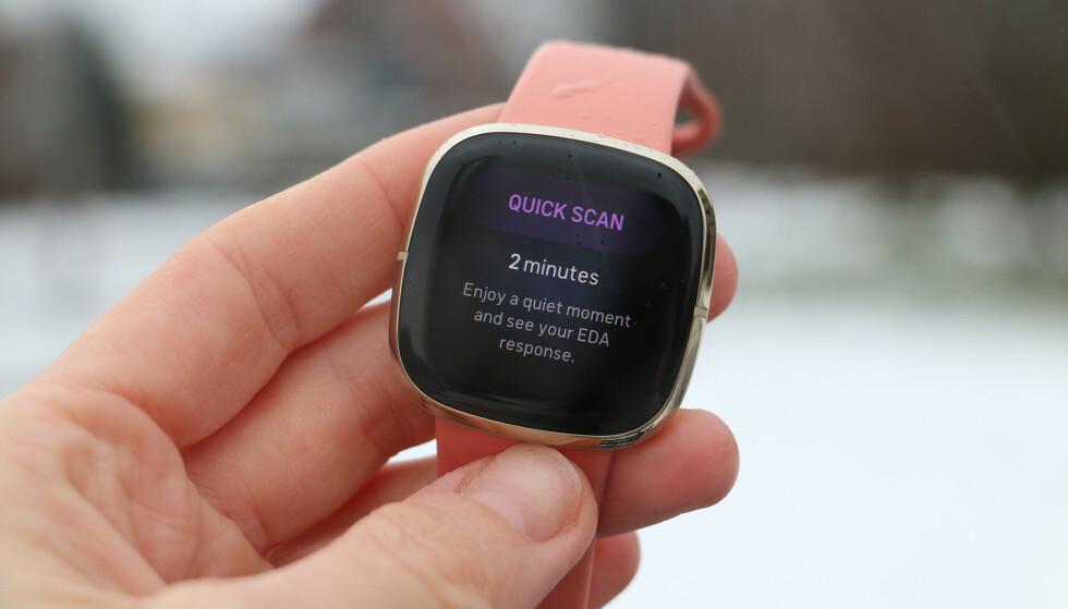 """""""RASK"""": Man kan diskutere hvorvidt to minutter er kjapt, men det er i hvert fall så lang tid Sense bruker på å ta en såkalt EDA-skann. Foto: Kirsti Østvang"""