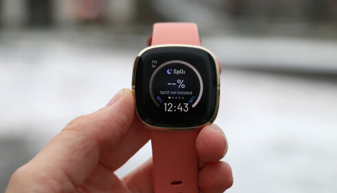 SPO2-MÅLER: Fitbit Sense kan måle oksygennivået i blodet, men det skjer bare når du sover.