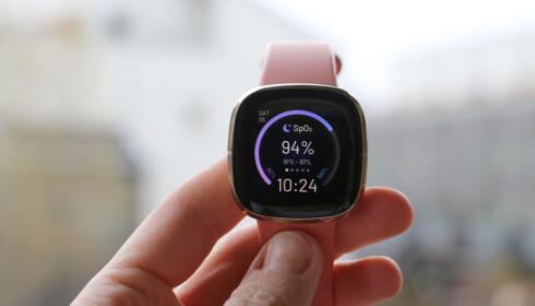 EGEN URSKIVE: For å se nattas måling på klokka, må du ha en spesiell SpO2-urskive installert. Foto: Kirsti Østvang