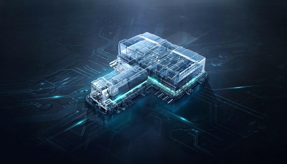 16,6 kWt: Batterikapasiteten skal gi elektrisk rekkevidde på 52 km. Illustrasjon: MG Motors