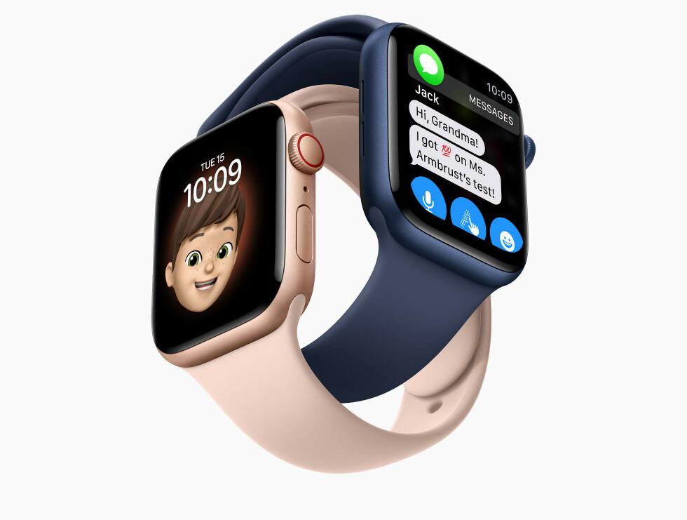 HOLD KONTAKTEN: Med sin egen Apple Watch kan barna ringe og sende meldinger til deg og andre familiemedlemmer. Foto: Apple