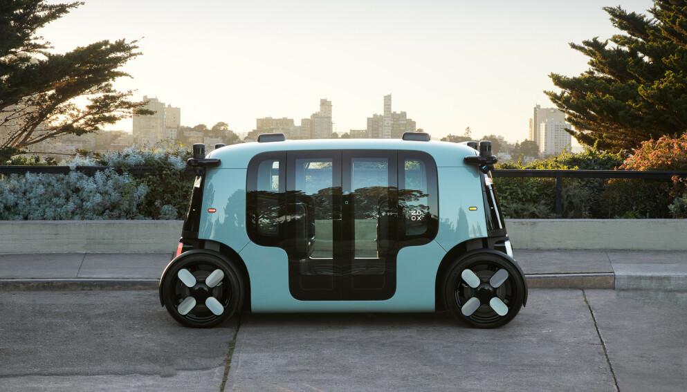 ROBOTTAXI: Denne uka ble endelig den selvkjørende drosjen til Amazon og Zoox vist fram. Foto: Zoox