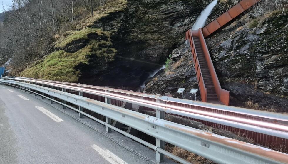 VENTER PÅ MER VANN: Lysene vil ikke tas ordentlig i bruk før over nyttår. Foto: Rogaland fylkeskommune