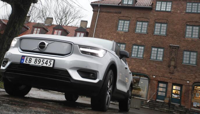POPULÆR: Volvo XC40 er en ettertraktet bil i Norge, også som elbil. Foto: Øystein B. Fossum