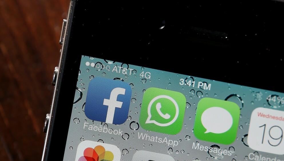 POPULÆR: Facebook betalte 19 millarder dollar for Whatsapp i 2014, og tjenesten har over to milliarder brukere på verdensbasis. Snart vil den slutte å virke på eldre telefoner. Foto: Justin Sullivan / AFP / NTB Scanpix