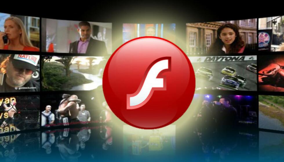 ADOBLE FLASH PLAYER: Nå er den utskjelte programvaren historie. Foto: Adobe