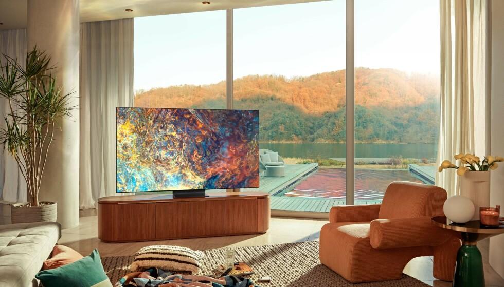 NY TEKNOLOGI: Samsung har nå forbedret sin QLED-teknologi med lysdioder som er langt mer kompakte. Foto: Samsung