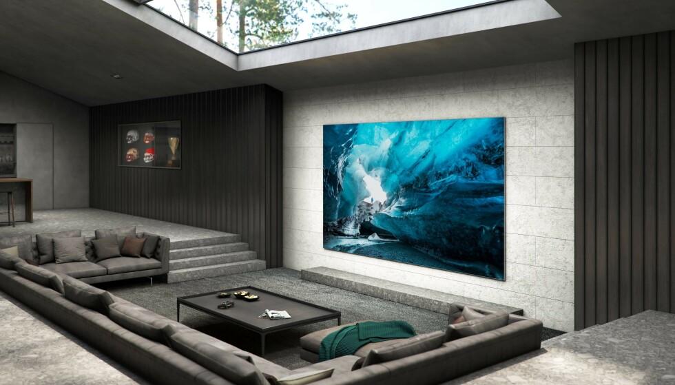 MODULÆR: MicroLED-TV-er er modulære slik at man kan utvide størrelsen etter behov. Foto: Samsung