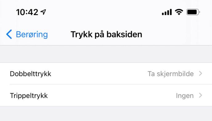 SKRU AV: Denne nye funksjonen kan være årsaken til at din iPhone tar flere skjermbilder enn ønskelig. Skjermbilde: Kirsti Østvang
