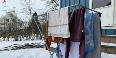 Kan man tørke klær ute om vinteren?