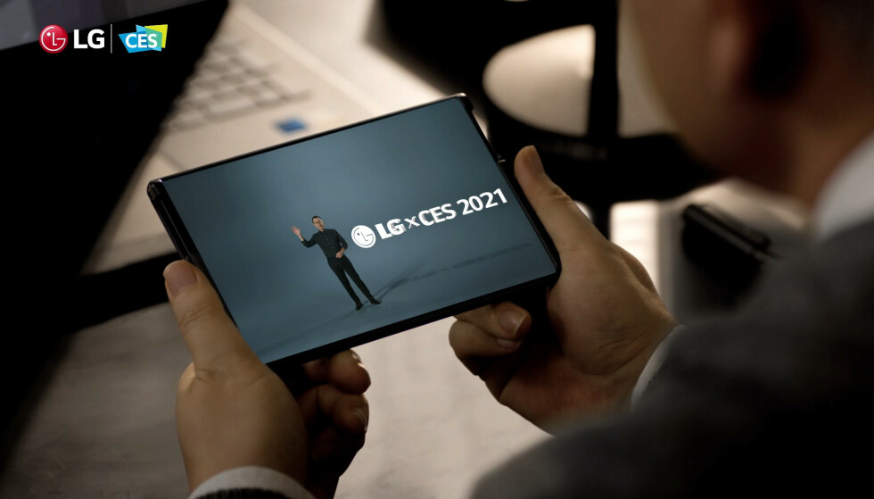RULL DEN UT: LGs rullbare mobiltelefon kommer allerede i år. Foto: LG