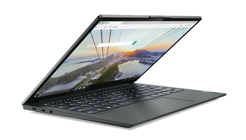 THINKBOOK: Lenovo prøver å gjøre ting litt annerledes om dagen. Under kan du lese hva som er så spesielt med denne laptopen. Foto: Lenovo